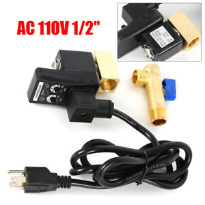 Automatic Timed Air Tank Water Moisture Drain Valve Compressor power Cable Usa