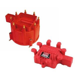 Msd 84111 Extreme Output Gm Hei Distributor Cap Coil Cover Red