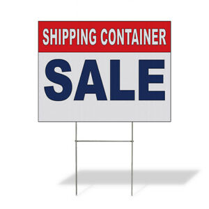 Weatherproof Yard Sign Shipping Container Sale Red Blue Lawn Garden Ideas