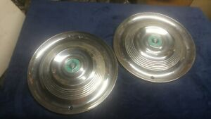 Two 1955 Chrysler Saratoga Hubcaps wine And Cheese