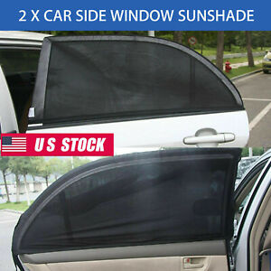 2x Car Side Rear Window Sun Visor Shade Mesh Cover Shield Sunshade Uv Protectors