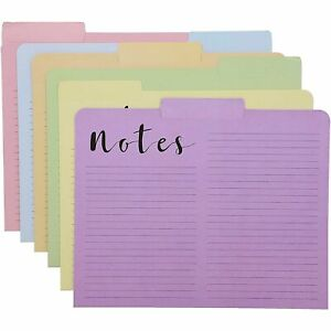 12x Line File Folder Letter A4 Size 1 3 Cut Tabs Organizer For Students Office