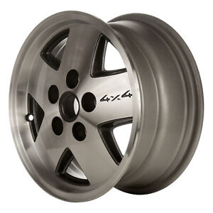 01320 Refinished Chevrolet S10 Truck 4x4 1983 1993 15 Inch Wheel Silver