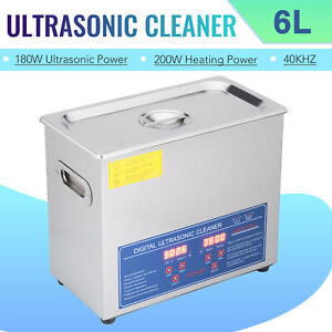 6l Electric Ultrasonic Cleaner Machine 304ss With Digital Timer heater Preenex