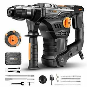 Tacklife 1 1 4 Inch Sds plus 12 3 Amp Rotary Hammer Drill 7joules Impact