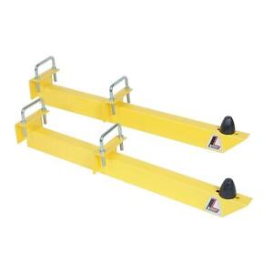Lakewood 20475 Traction Bars 28 Inch Universal Steel Yellow