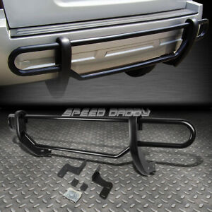 For 09 15 Honda Pilot Suv Black Coated Double Bar Rear Bumper Protector Guard
