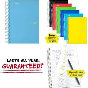 Spiral Notebook 5 Subject College Ruled Paper 180 Sheets Small 9 1 2 X 6