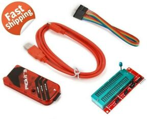 Pickit3 Microchip Programmer W Usb Cable Wires Pic Kit 3 Us Ship with Tracking