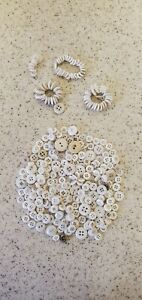 Lot Vintage White China Buttons Varied Sizes Early Buttons Lot