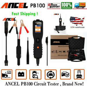 Ancel Pb100 Circuit Tester Auto Electrical Tester Kit Voltmeter With Accessories