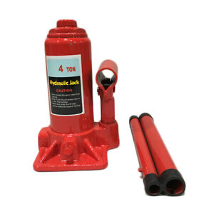 4 Ton Hydraulic Bottle Jack Red Heavy Duty Car Lift Repair Hand Tools Us Ship