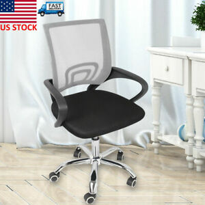 New Computer Desk Rolling Chair Mid back Mesh Office Height Adjustable Ergonomic