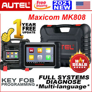 Autel Mk808 Obd2 Diagnostic Scan Tool All System Tpms Immo Oil Reset As Mk808bt