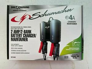 Schumacher 4a 2a 2 bank Battery Charger maintainer Sc1444 Brand New