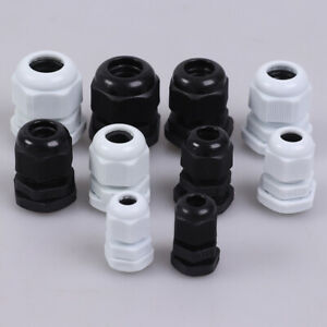 5pcs Waterproof Cable Gland Cable Entry Ip68 Pg7 Pg16 Nylon Plastic Connectorl