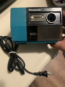 Vintage Panasonic Kp 123 Electric Pencil Sharpener Teal Green Auto Stop Japan