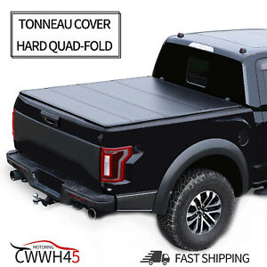 Hard Quad fold Tonneau Cover For 2004 2014 Ford F 150 5 5ft Truck Bed Waterproof