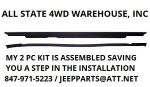 Hardtop Liftgate Glass Weatherstrip Seal Retainer For 97 06 Jeep Wrangler New