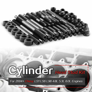 12 point Cylinder Head Stud Kit For 04 up Chevy Ls1 Ls3 L98 4 8l 6 0l Engines