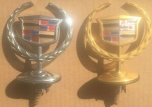 2000 2005 Cadillac Dts Dhs Hood Ornament Emblems Silver And Gold 106e