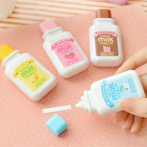 Milk Bottle Roller White Out School Study Stationery Correction Tape Toolwa