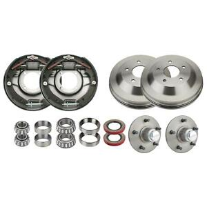 Bendix Style Front Brake Kit For 1937 48 Ford Spindles 12x2 Inch