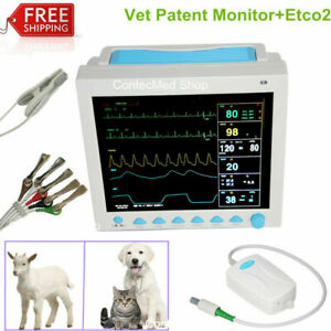 Etco2 printer Vet Icu Contec Patient Monitor Veterinary Multi parameter Ccu Usa