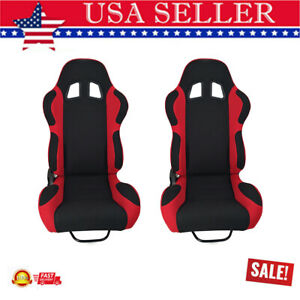 2pcs Universal Single Adjuster Double Sports Bucket Car Racing Seats Reclinable