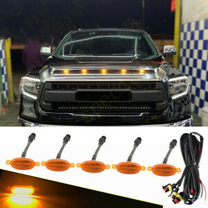 For Toyota Tundra 2008 2021 Front Grille Led Light Raptor Style Grill Cover 5pcs