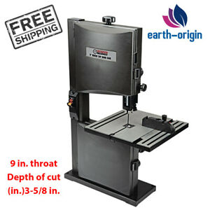 Bench Top Band Saw 9 Throat 1 3 Hp With Miter Gauge Blade For Wood Cutting