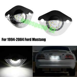 For 1994 2004 Ford Mustang Gt Bright Replacement Bumper License Plate Light L R
