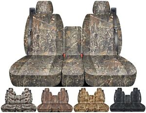 Front Set Car Seat Covers Fits Chevy Silverado With Integrated Seat Belts