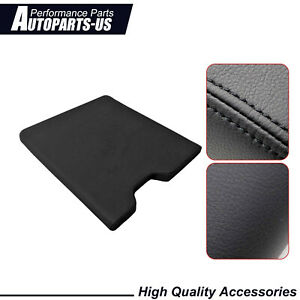 For 2015 2019 Ford F150leather Center Console Lid Armrest Cover Bench Seat Black