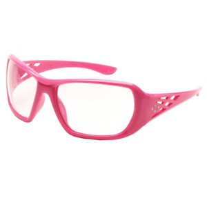 Safety Glasses Eye Protection Sized For Women Pink Frame Clear Lens