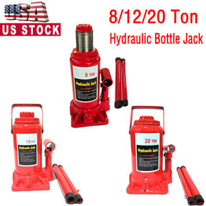 8 12 20ton Emergency Hydraulic Bottle Jack Lift Heavy Duty Repair Shop Lift Tool