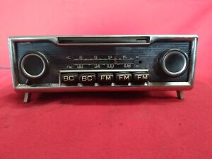 Mercedes Benz Becker Europa Am Fm Auto Radio Vintage Late 60 s Early 70 s