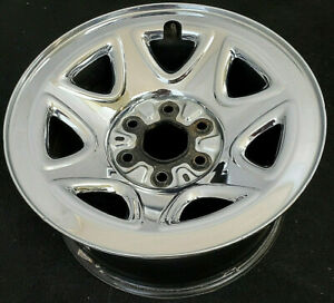 Chevy Truck Van Suv Factory Original Oem 17 Inch 6 Lug Chrome Wheel Rim 5655