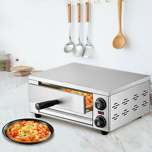 Vevor Commercial 1450w Electric Pizza Oven 12 Baking Machine Stainless Steel