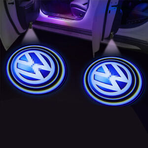 2pcs Car Door Courtesy Logo Led Custom Light Projector Atmosphere Lamp For Vw