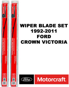 Motorcraft Wiper Blades Genuine Oem Set Of 2 For Ford Crown Victoria 1992 2011