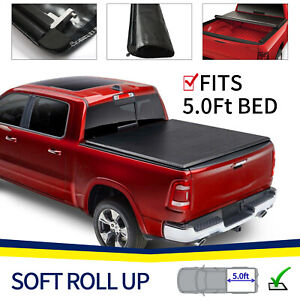 Soft Roll Up For 2019 2021 Ford Ranger 5 0 Ft Short Bed Tonneau Cover