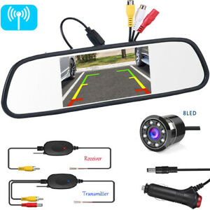 5 Tft lcd Mirror Monitor Color Screen Display Wireless Front Rear View Camera