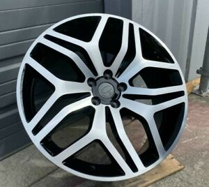 22x9 5 Wheels Fit Range Rover Land Rover Hse Sport Black Machined 22 Inch Set 4