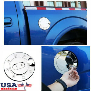 Us Triple Chrome Plated Abs Fuel Tank Gas Door Cap Cover For Ford F150 2004 2008