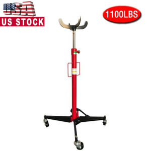 1100lb High Lift Transmission Jack Stand Foot Operated Pump Spring Loaded Jack