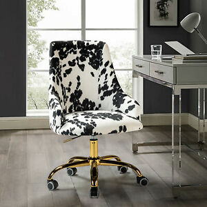 Swivel Task Chair With Golden Base