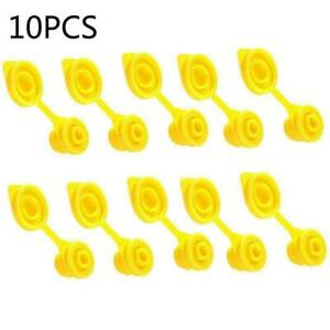 10 Yellow Gas Can Spout Fuel Container Jug Vent Stopper Plug Replacement Cap