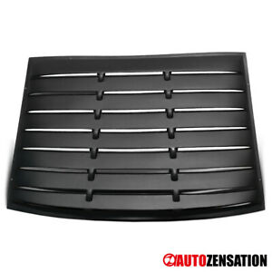 For 2005 2014 Ford Mustang Gt V6 V8 Black Rear Window Louver Sun Shade Cover