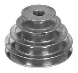 Congress Sca500 4x062kw 5 8 Or 1 2 Fixed Bore 4 Groove Stepped V belt Pulley